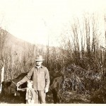 Grandpa Tom and Ray, VanBrocklin Dairy, 1930